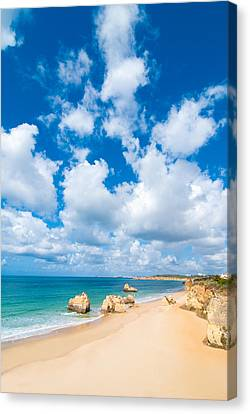 Summer Beach Algarve Portugal Canvas Print by Amanda Elwell