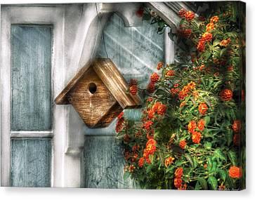 Summer - Birdhouse - The Birdhouse Canvas Print by Mike Savad