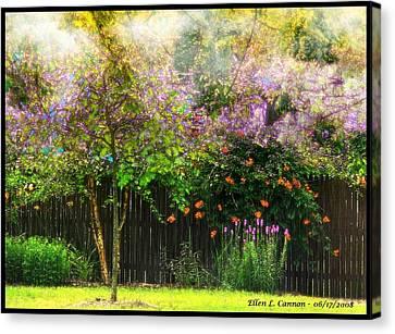 Summer Color Burst Canvas Print by Ellen Cannon