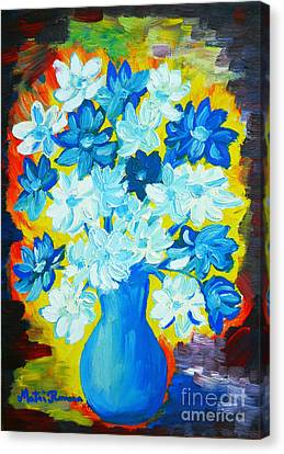 Summer Daisies Canvas Print by Ramona Matei