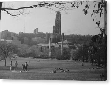 Summer Day At Schenley Park Canvas Print by Joann Renner