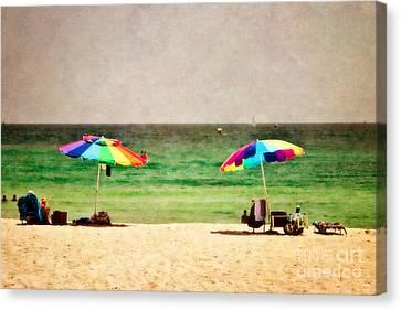Summer Days At The Beach Canvas Print by Scott Pellegrin
