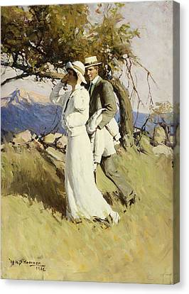 Summer Days Canvas Print by William Henry Dethlef Koerner