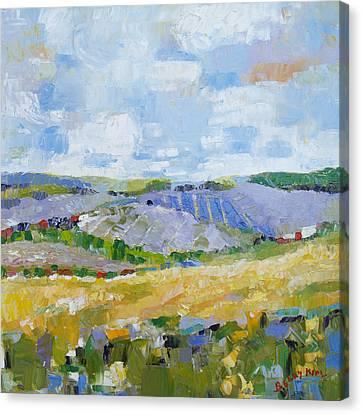 Summer Field 3 Canvas Print by Becky Kim