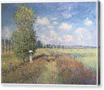 Summer Field Of Poppies Canvas Print by Claude Monet