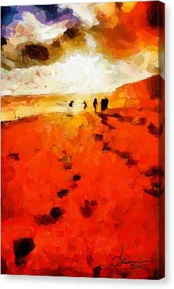 Summer Fire Tnm Canvas Print by Vincent DiNovici