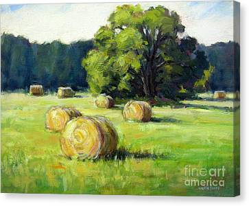Summer Hay Canvas Print by Vickie Fears