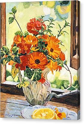 Summer House Still Life Canvas Print by David Lloyd Glover