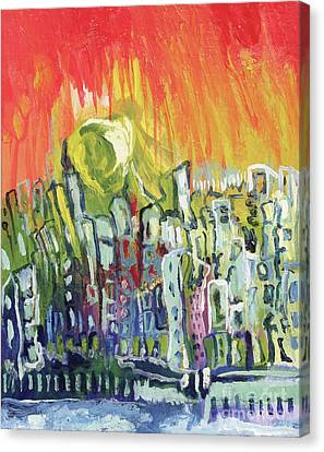 Summer In The City Canvas Print by Kim Chigi