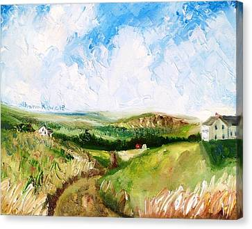 Summer In The Dale  Canvas Print by Shana Rowe Jackson