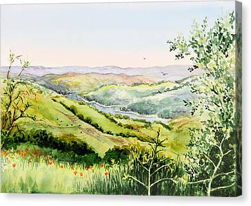 Summer Landscape Inspiration Point Orinda California Canvas Print by Irina Sztukowski