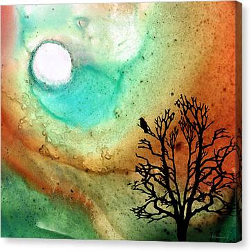 Summer Moon - Landscape Art By Sharon Cummings Canvas Print by Sharon Cummings
