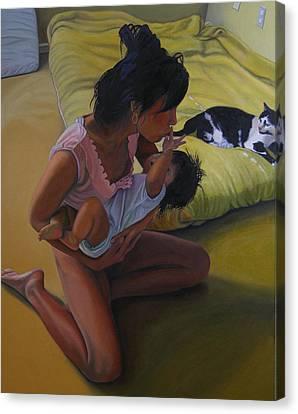 Summer Morning Cabot Arkansas Canvas Print by Thu Nguyen