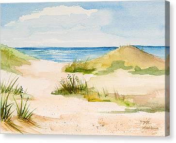 Summer On Cape Cod Canvas Print by Michelle Wiarda