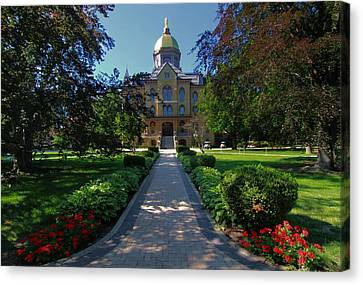 Summer On Notre Dame Campus Canvas Print by Dan Sproul
