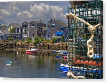 Summer On The Harbor Canvas Print by Joann Vitali