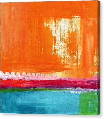 Summer Picnic- Colorful Abstract Art Canvas Print by Linda Woods
