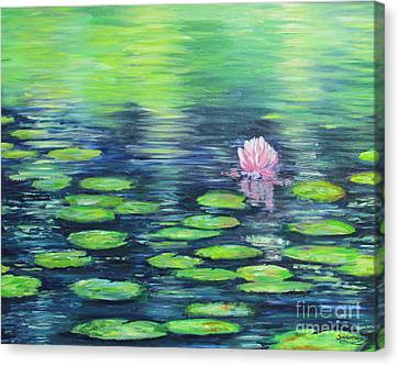 Summer Pond Canvas Print by Sian Lorraine