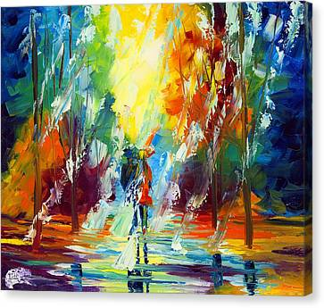 Summer Rain Canvas Print by Ash Hussein