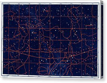 Summer Solstice Constellations Canvas Print by Collection Abecasis