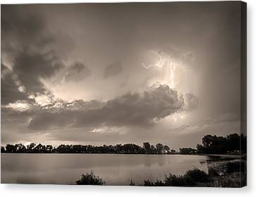 Summer Storm In Black And White Sepia Canvas Print by James BO  Insogna