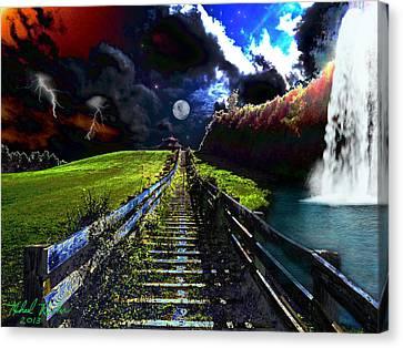 Summer Storm Canvas Print by Michael Rucker