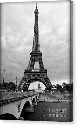 Summer Storm Over The Eiffel Tower Canvas Print by Carol Groenen