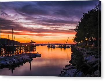 Summer Sunset Canvas Print by Mike Lang