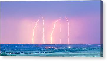 Summer Thunderstorm Lightning Strikes Panorama Canvas Print by James BO  Insogna