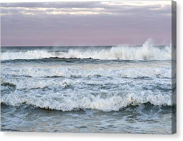 Summer Waves Seaside New Jersey Canvas Print by Terry DeLuco