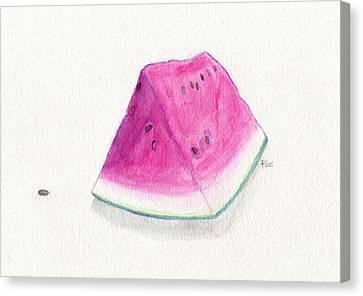 Summertime Watermelon Canvas Print by Roz Abellera Art