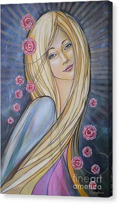 Sun And Roses 081008 Canvas Print by Selena Boron