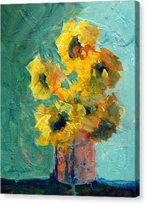 Sun And Shadow Canvas Print by Nancy Merkle