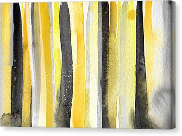 Sun And Shadows- Abstract Painting Canvas Print by Linda Woods