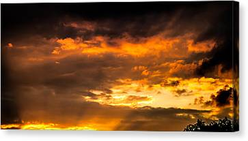 Sun Beams And Clouds Canvas Print by Optical Playground By MP Ray