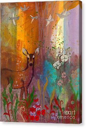 Sun Deer Canvas Print by Robin Maria Pedrero