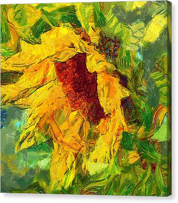 Sun Flower Aka Gogh 1 Canvas Print by Yury Malkov