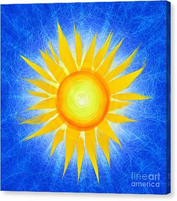 Sun Flower Canvas Print by Tim Gainey