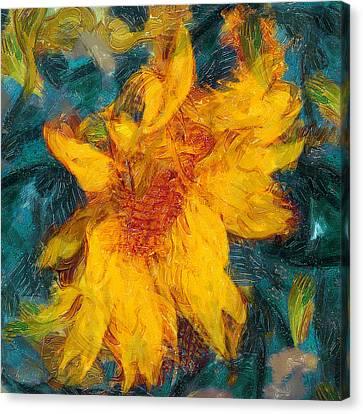 Sun Flowering Canvas Print by Yury Malkov