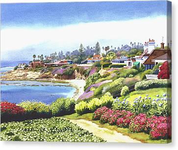 Sun Gold Point La Jolla Canvas Print by Mary Helmreich