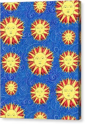 Sun King Textile Pattern Canvas Print by John Keaton