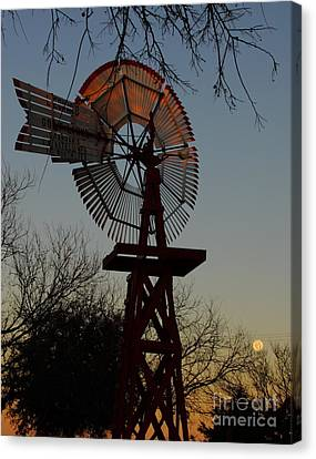 Sun Moon And Wind Canvas Print by Robert Frederick