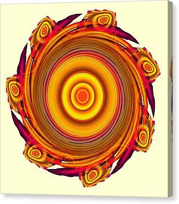 Sun Salutation Canvas Print by Anastasiya Malakhova