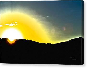 Sun Canvas Print by Teresa Dixon