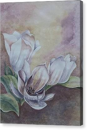 Sun Tulips Canvas Print by Jayne Morgan