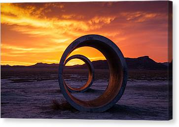 Sun Tunnels Canvas Print by Peter Irwindale