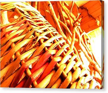 Sun Wicker Basket Canvas Print by Yury Bashkin