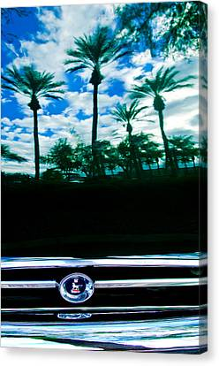 Sunbeam Tiger Grille Emblem Canvas Print by Jill Reger