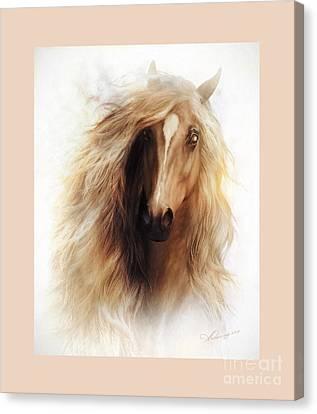 Sundance Mustang Frame Canvas Print by Shanina Conway