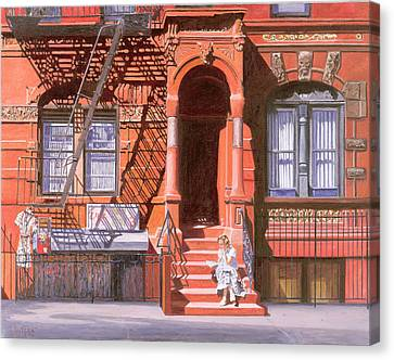 Sunday Afternoon East 7th Street Lower East Side Nyc Canvas Print by Anthony Butera